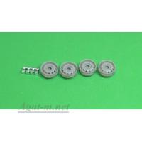 023Д-АЗС Диски штампованные для Нивы с колпаками хром для ступиц, серые, 4 шт.