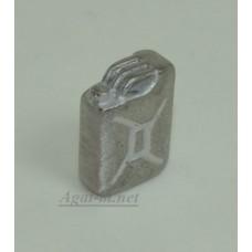 Канистра 20 л. серебристая (олово)