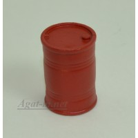 004-АЗС Бочка 200 л. красная (олово)