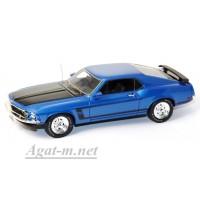 43002-HW Ford Mustang Boss 1969г. синий металлик