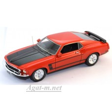 43003-HW Ford Mustang Boss 302 1969г. оранжеывй