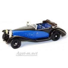 Масштабная модель DELAGE D8SS Fernandez & Darrin 1932г. сине-черного цвета
