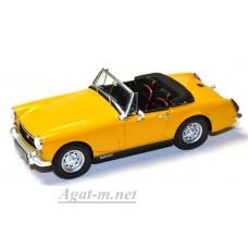 Масштабная модель  MG Midget MK III 1972 желтого цвета