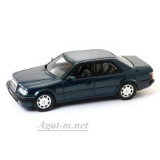 Масштабная модель Mercedes-Benz 500 E 1986 г. Dark Blue Metallic