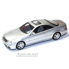 Масштабная модель авто Mersedes-Benz CL55 AMG 2003  цвет серебристый металлик