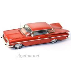 Масштабная модель Шевроле Импала Седан 4 Windows 1959 красного цвета