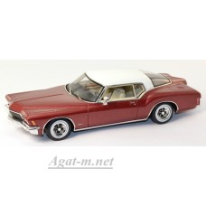 114332-TSM Buick Riviera 1971г. темно-красный