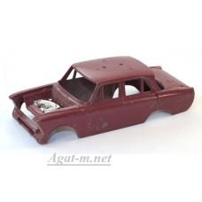 003-САР Кузов для Москвича 408-412 (под багажник), бордовый