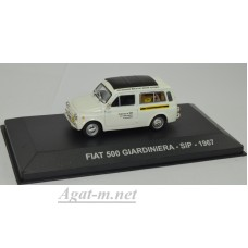 "013AF-АТЛ FIAT 500 GIARDINIERA ""SIP"" 1967 White/Black"