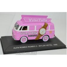 "018AF-АТЛ ALFA ROMEO ROMEO 2 ""WYLER VETTA"" 1955 Pink"