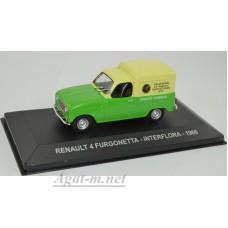 "036AF-АТЛ RENAULT 4 FURGONETTA ""INTERFLORA"" 1966 Green/Yellow"