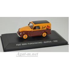"""068AF-АТЛ FIAT 500 C FURGONCINO """"MARGA"""" 1950 Yellow/Brown"""