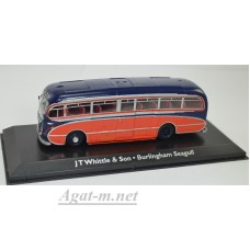 "4642101-АТЛ Автобус LEYLAND Tiger Cub Burlingham Seagull Coach  ""J.T.Whittle & Sons"" 1951 Blue/Red"