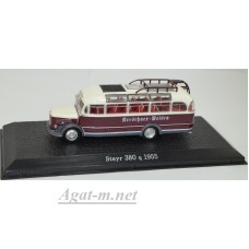 7163111-АТЛ Автобус STEYR 380 q 1955 White/Brown