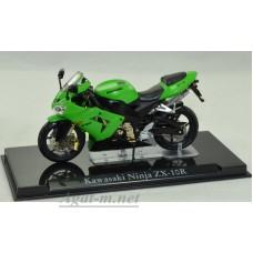 4110104-АТЛ Мотоцикл KAWASAKI Ninja ZX-10R Green