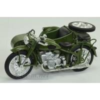"7168121-АТЛ Мотоцикл с коляской ИМЗ M-72 ""Урал"" 1955"