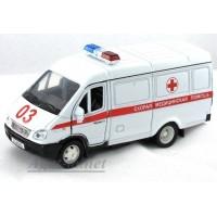 2912-АВБ Горький модель фургон скорая помощь