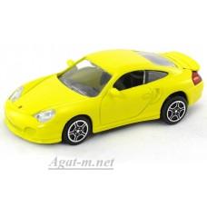 Масштабная модель Porsche 911 Turbo, желтый