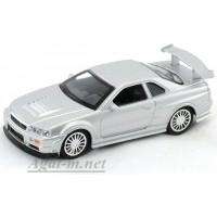 4701-1-АВБ Nissan Skyline GT-R R34, серый