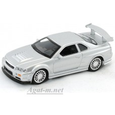 Масштабная модель Nissan Skyline GT-R R34, серый
