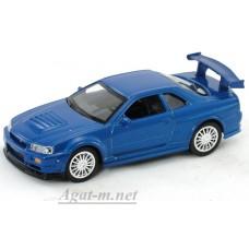 Масштабная модель Nissan Skyline GT-R R34, синий
