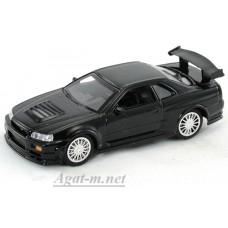 Масштабная модель Nissan Skyline GT-R R34, черный