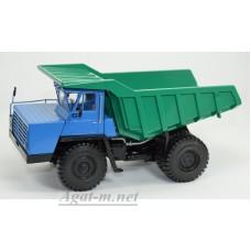 10235-ДМБ Карьерный самосвал БЕЛАЗ-540А (решетка с 5 поперечинами), синий/зеленый