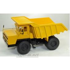 102385-ДМБ Карьерный самосвал БЕЛАЗ-7522 поздний, желтый