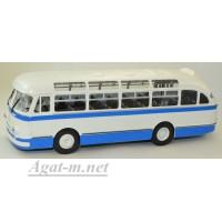 04003D-КЛБ ЛАЗ-695Е автобус, бело-голубой