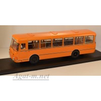 04018А-КЛБ Ликинский автобус-677М 1983г., оранжевый (запасное колесо)