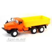 2007-ЭЛ УРАЛ 55571 самосвал сельхозник, оранжевый/желтый