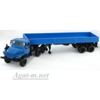 2011-ЭЛ УРАЛ 44202 с полуприцепом, синий