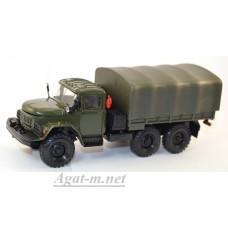 2031-ЭЛ ЗИЛ 131 грузовик бортовой с тентом, хаки