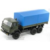 2054-ЭЛ Камский 43105 бортовой с тентом, зеленый/синий