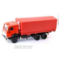 2096-ЭЛ Камский 53212 бортовой с тентом, красный