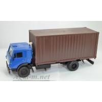 2063-ЭЛ Камский-5325 контейнеровоз, синий/коричневый