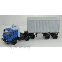 2073-4-ЭЛ Камский 5410 тягач контейнеровоз, синий/серый