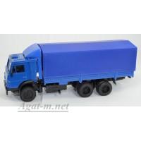 2079-ЭЛ Камский-53212 грузовик бортовой с тентом и спойлером, синий