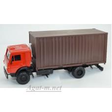 2104-2-ЭЛ Камский-5325 контейнеровоз, красный/коричневый