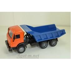 2086-3-ЭЛ Камский 55111-005 самосвал (ребра вертикальные), оранжевый/синий