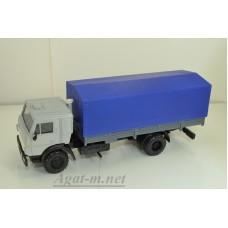 2090-6-ЭЛ Камский 5325 бортовой с тентом, серый/синий