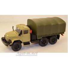 2031-1-ЭЛ ЗИЛ 131 грузовик бортовой с тентом, песочный/хаки