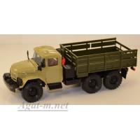 2032-1-ЭЛ ЗИЛ 131 грузовик бортовой, песочный/хаки