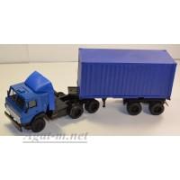 2073-3-ЭЛ Камский 5410 тягач контейнеровоз, синий