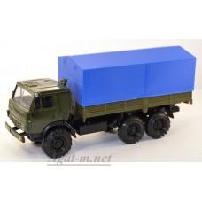 2082-ЭЛ Камский-43101-010 с тентом, зеленый/синий