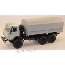 2203-2-ЭЛ Камский 4310 бортовой с тентом, серый