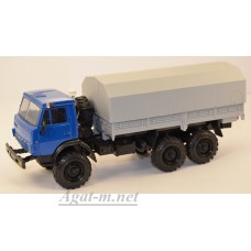 2203-4-ЭЛ Камский 4310 бортовой с тентом, синий/серый