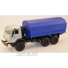 2203-5-ЭЛ Камский 4310 бортовой с тентом, серый/синий