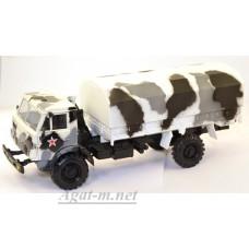2203-ЭЛ Камский 4310 бортовой с тентом, камуфляж зима