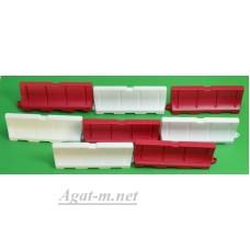 014-8-ГСТ Дорожный пластиковый водоналивной барьер (50Х18Х12мм.) набор 8шт.